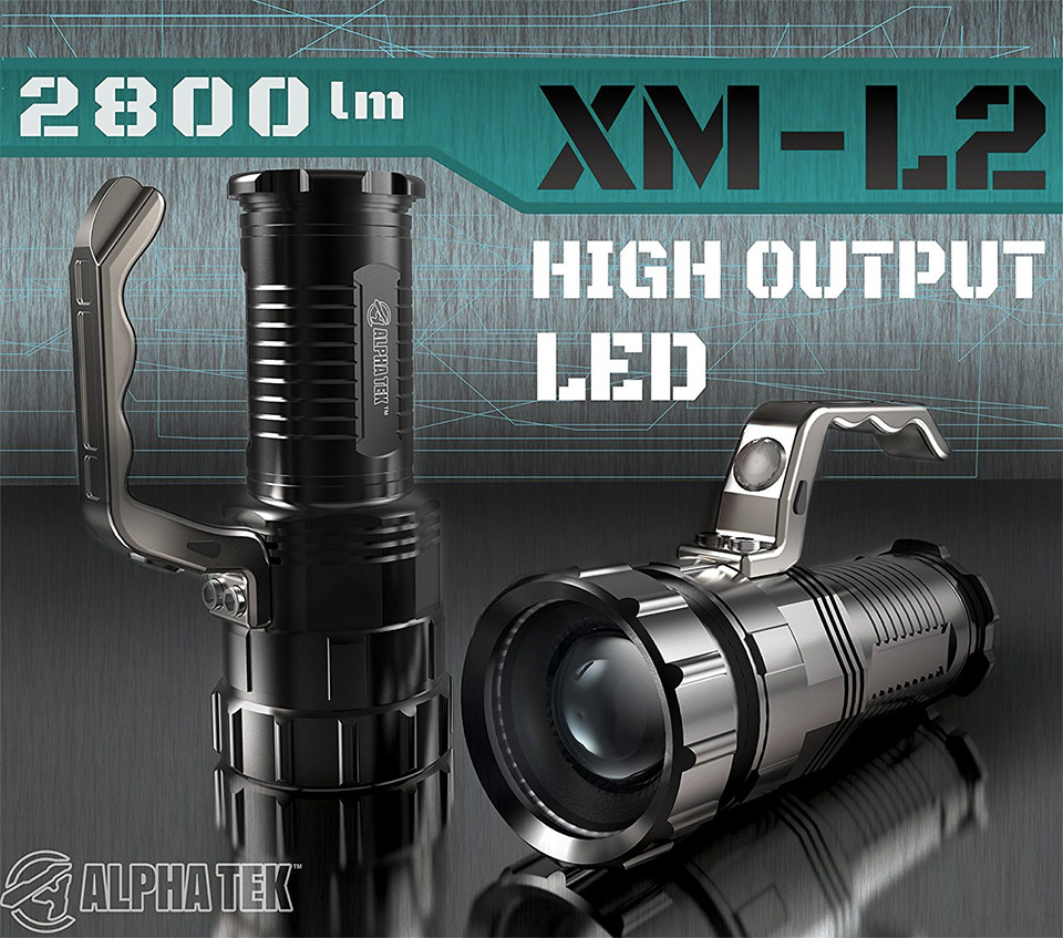 Alpha Tek High Output Flashlight