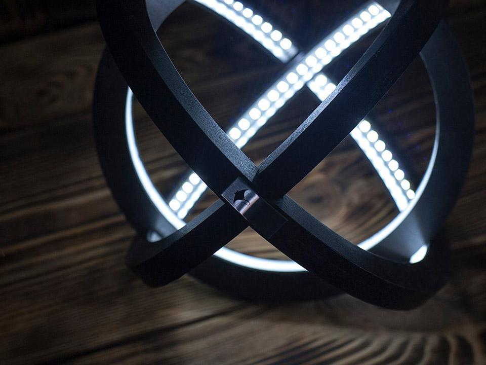 Atom LED Wood Lamp