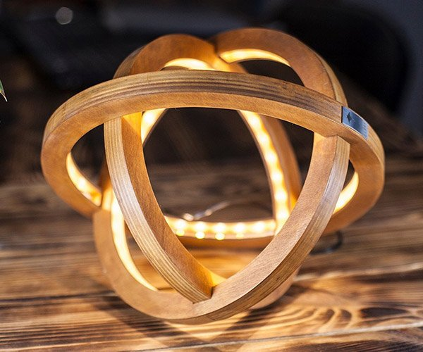 Atom LED Wood Lamp