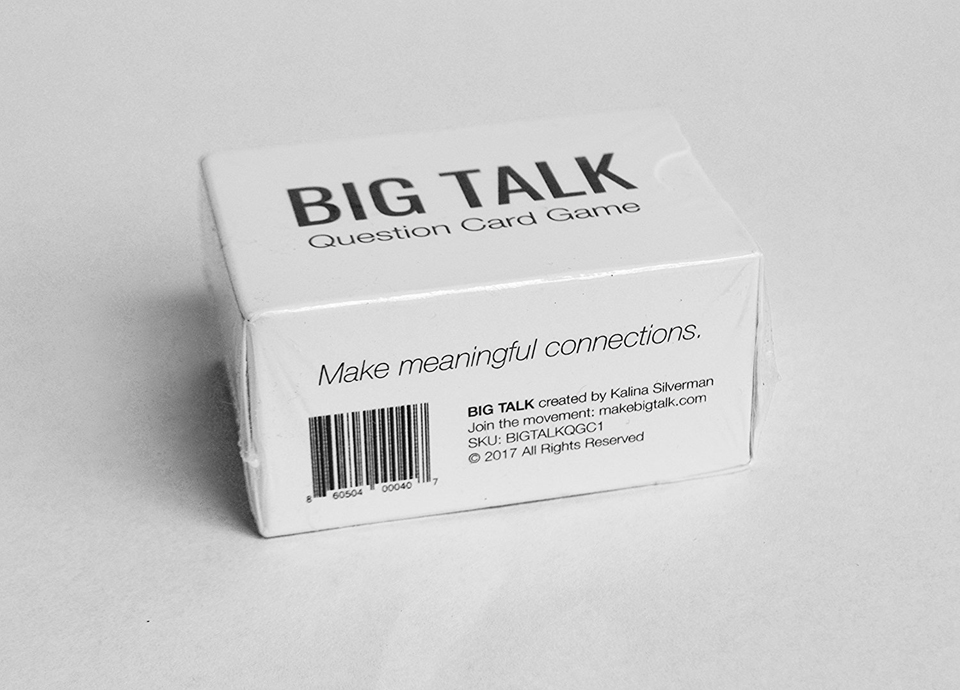 Big Talk Question Card Game
