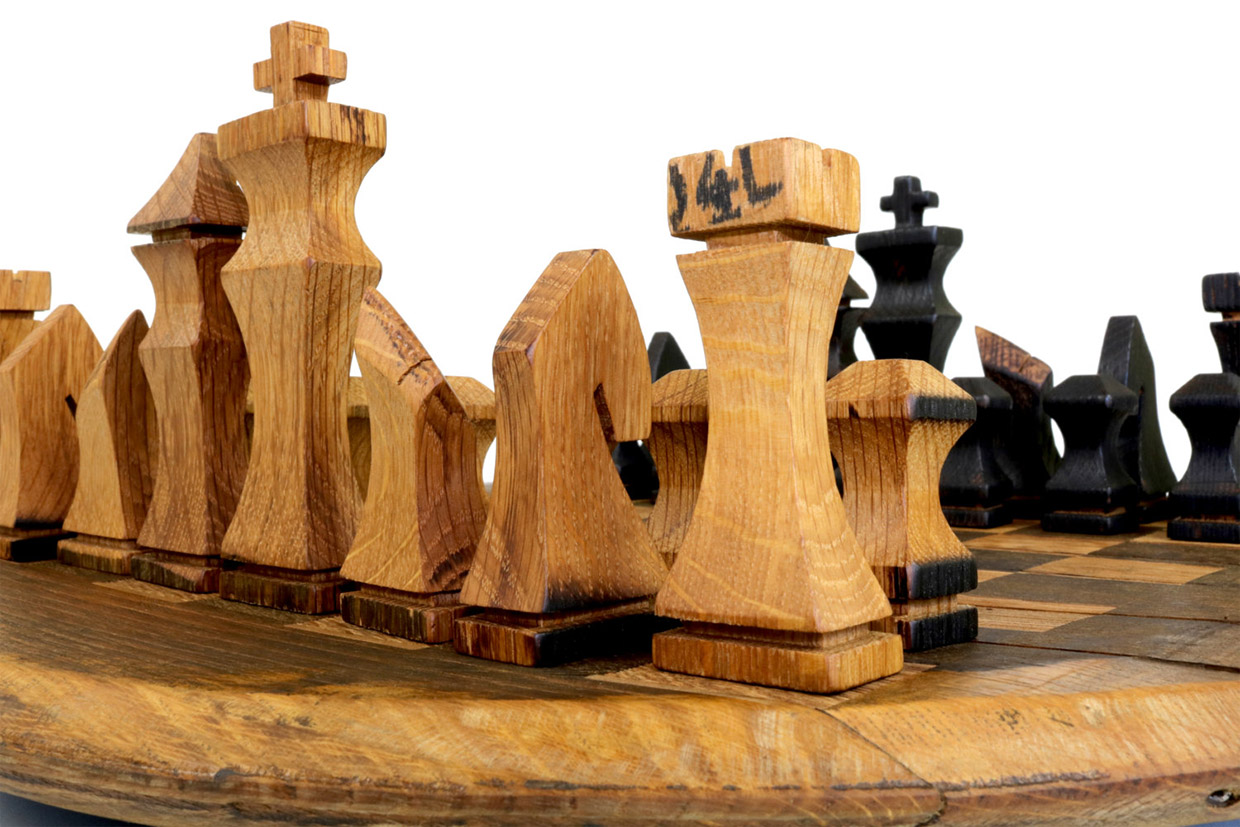 Bourbon Barrel Chess Set