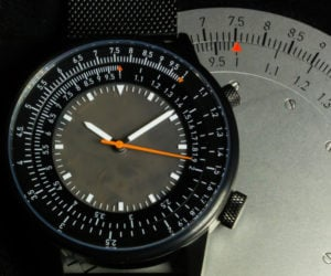 Caliper Slide Rule Wristwatch