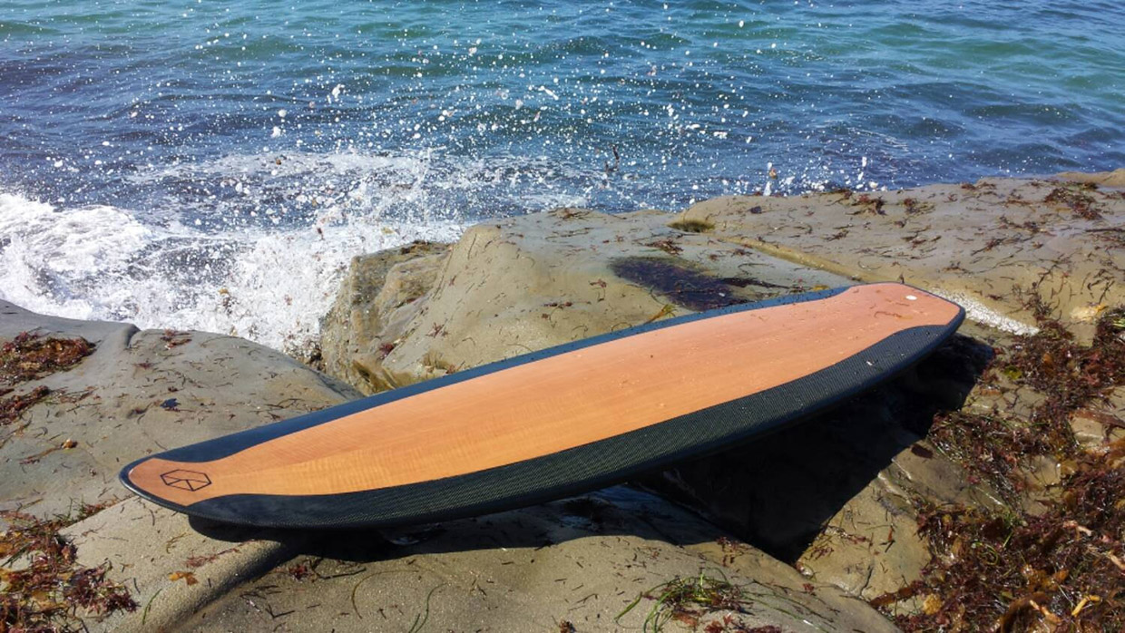 Carbon & Wood Surfboard