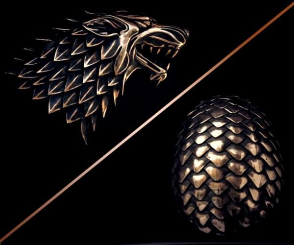 Dragon Egg and Direwolf
