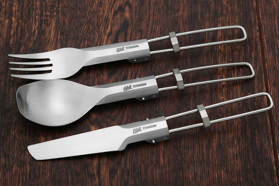 Esbit Folding Titanium Cutlery