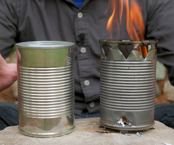 How to Make a Can Stove in 5 Mins.