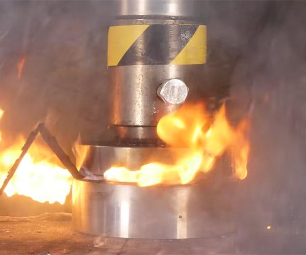 Hydraulic Press vs. Battery Pack