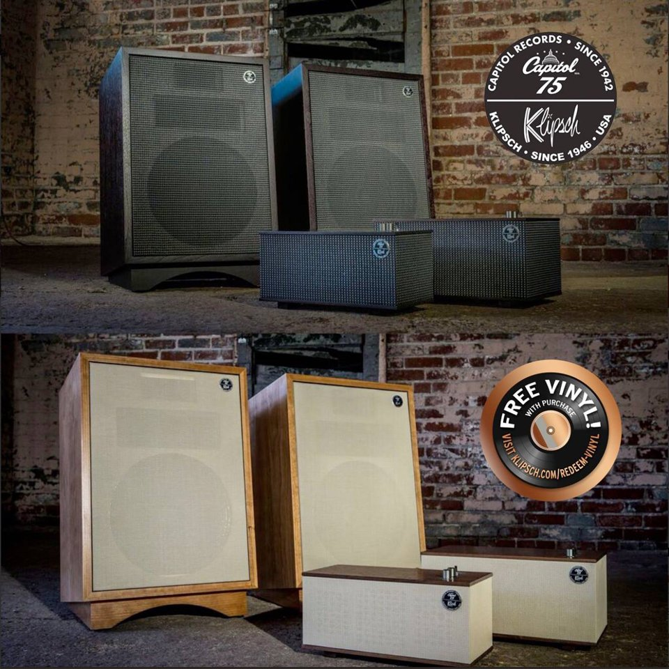Klipsch x Capitol Records Speakers