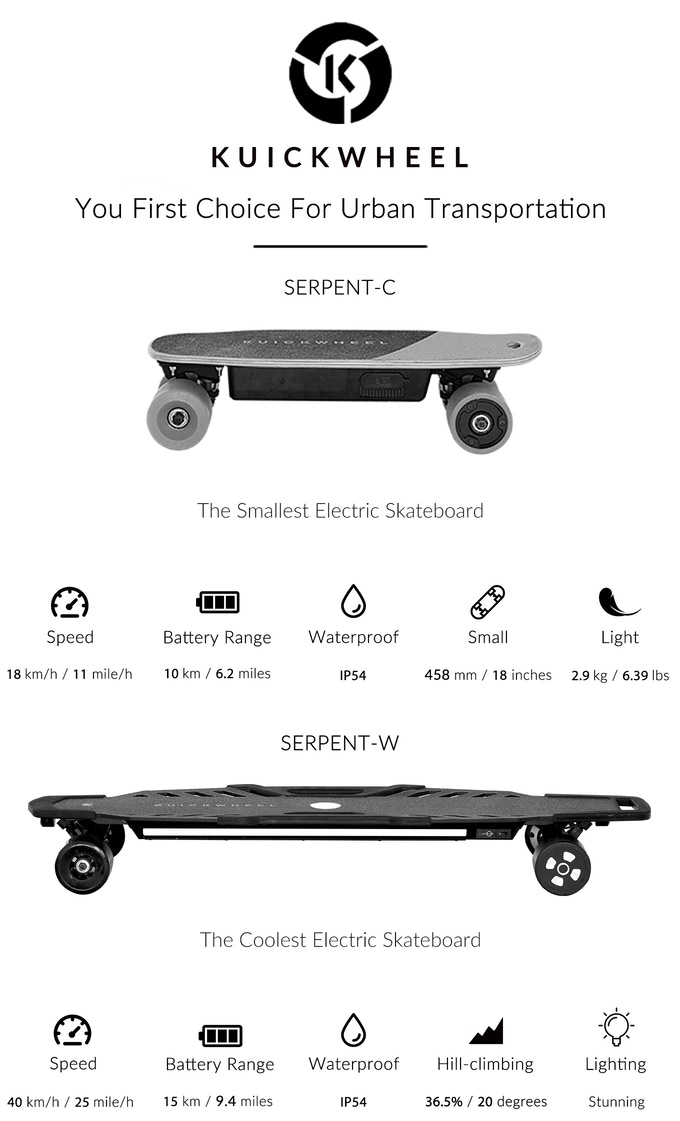 Kuickwheel Serpent Electric Skateboards