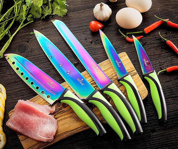 Rainbow Kitchen Knives