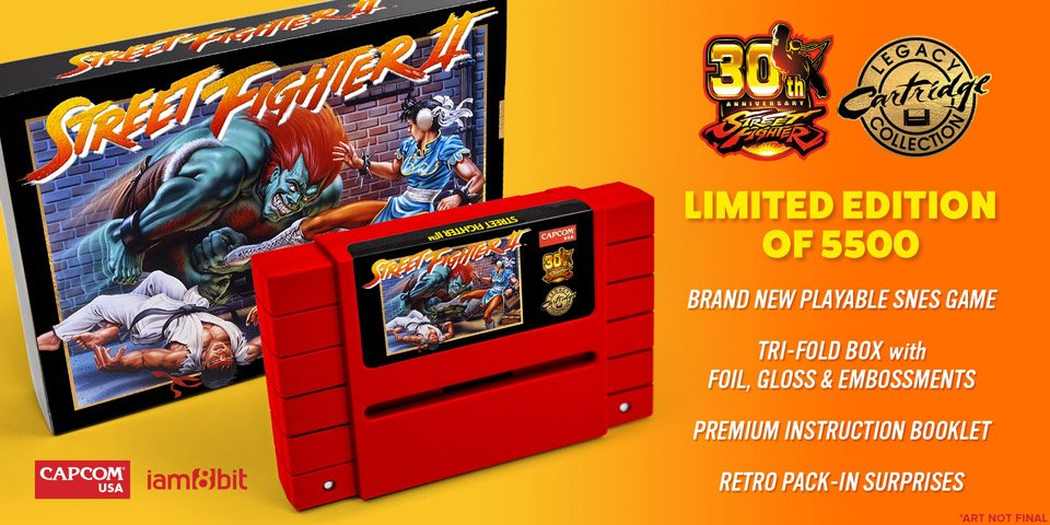 Street Fighter II Legacy SNES Cartridge