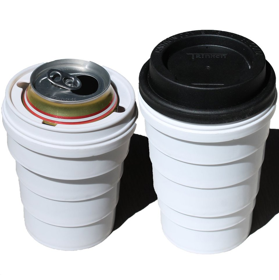Trinken Lid with Collapsible Cup