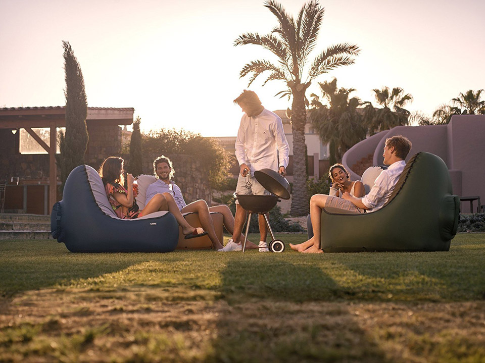 You Can Fill Up The Trono Inflatable Lounge Chair In Seconds