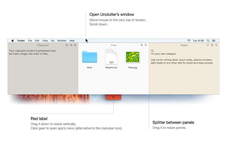 Unclutter for Mac