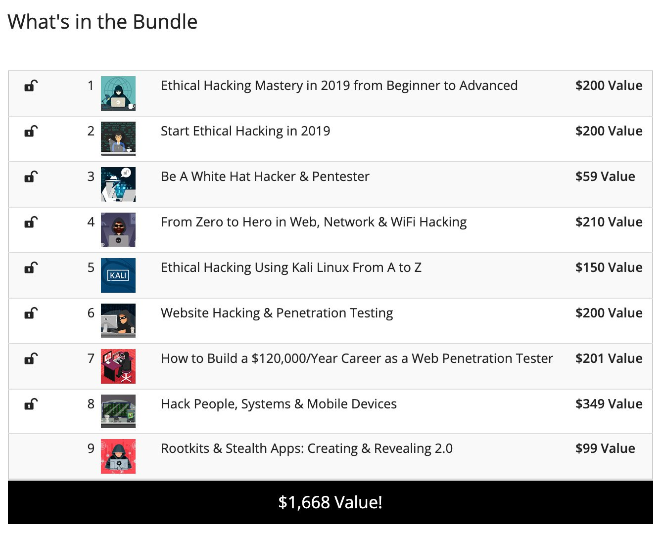 White Hat Hacker 2019 Bundle