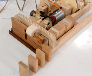 Wooden Domino Machine
