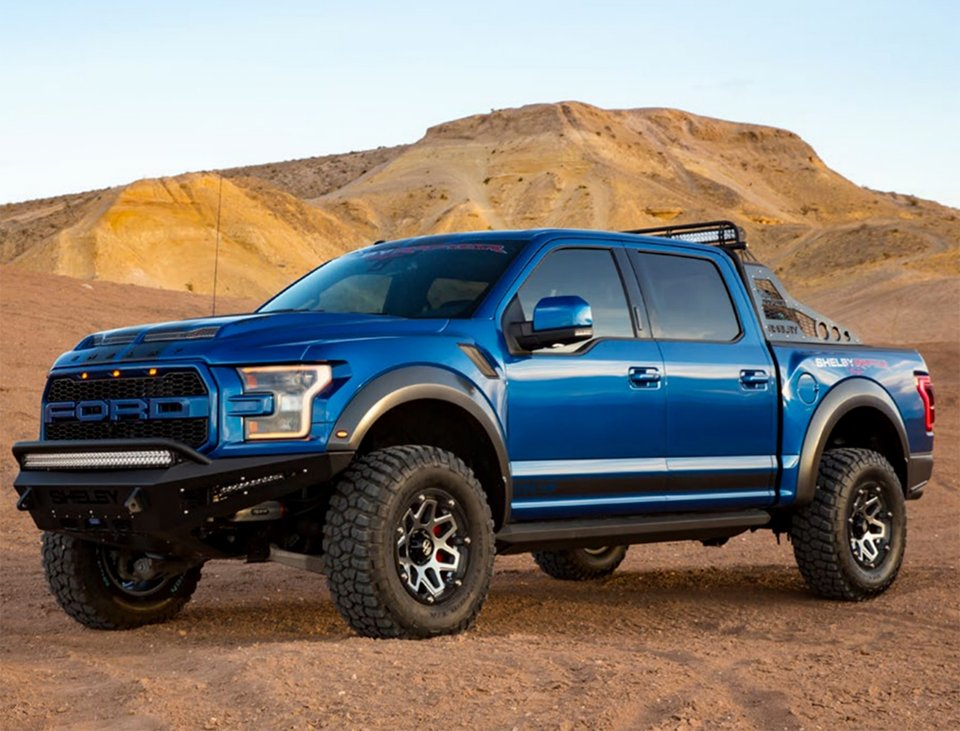 shelby ups the f 150 ante with the 2018 shelby raptor baja. Black Bedroom Furniture Sets. Home Design Ideas