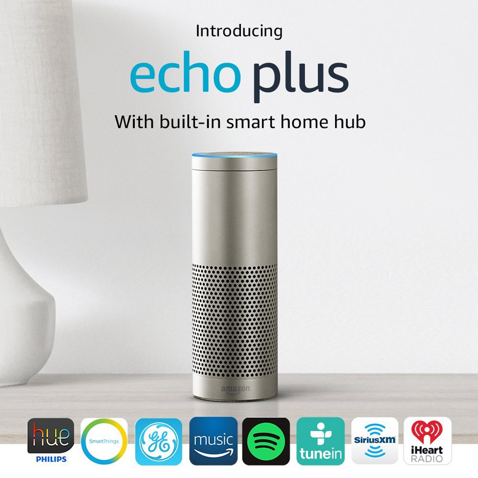amazon introduces new echo echo plus and echo spot alexa. Black Bedroom Furniture Sets. Home Design Ideas