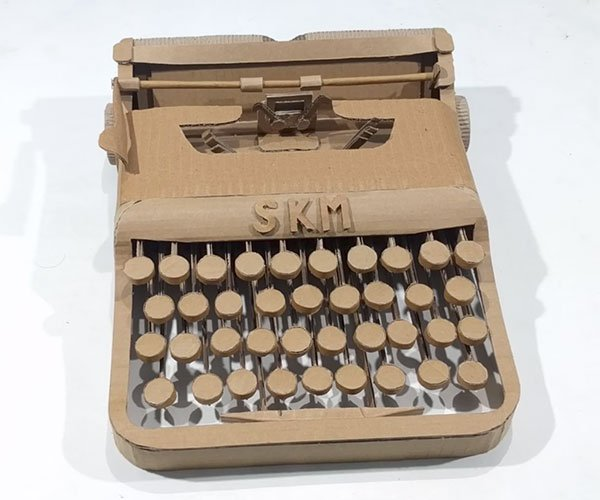 Making a Cardboard Typewriter