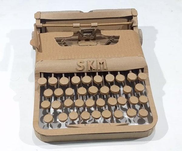 Making a Cardboard Typewriter