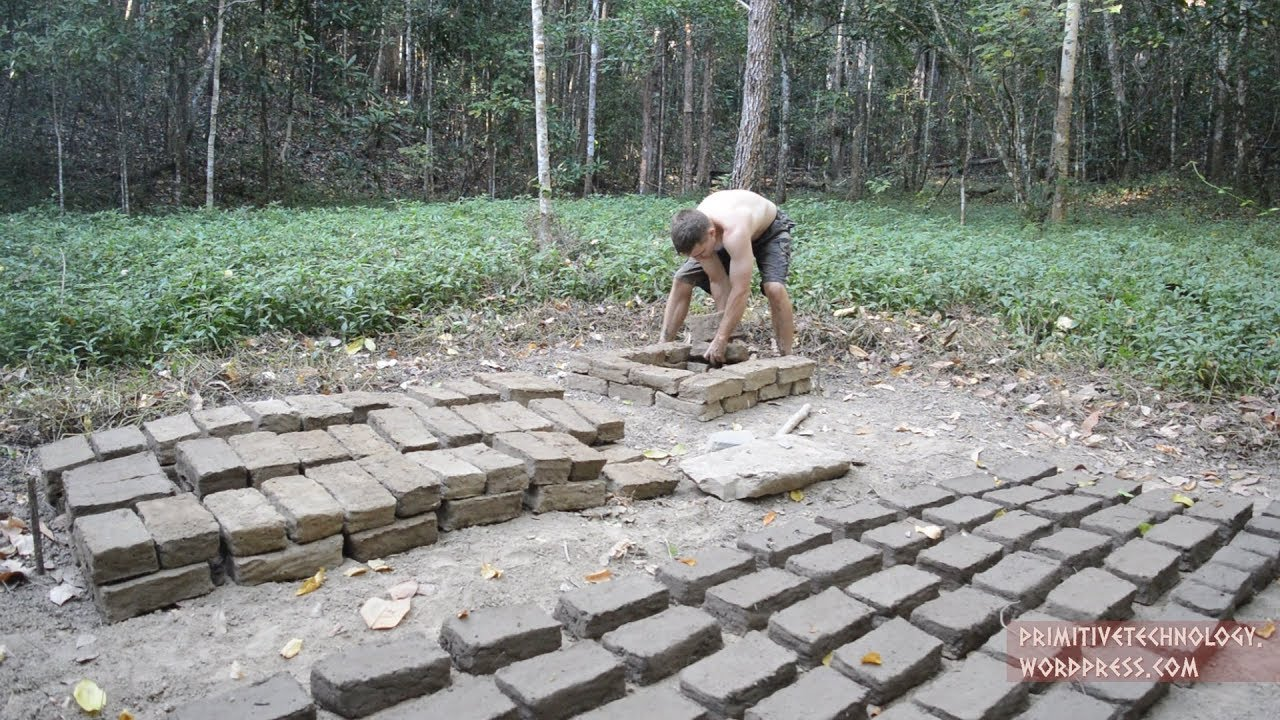Primitive Technology Tried Making Bricks And Roof Tiles