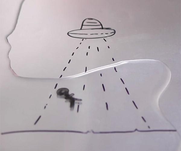Dry-erase Water Trick