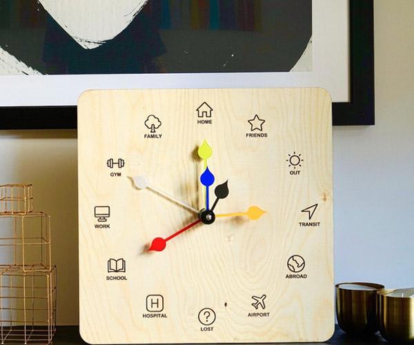 Eta Clock Location Indicator
