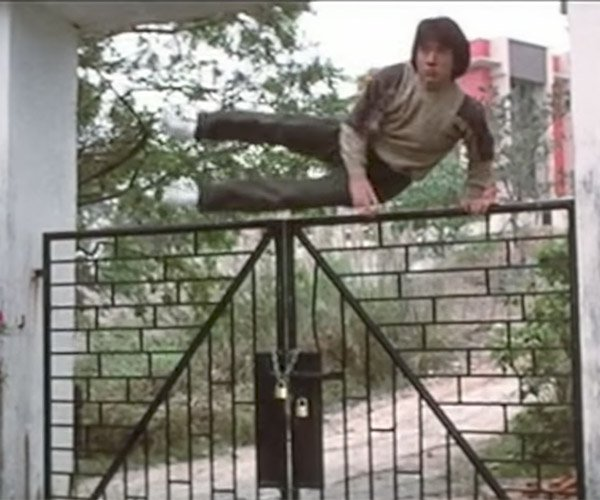 Jackie Chan Jumps over Fences