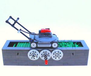 LEGO Lawnmower Kinetic Sculpture