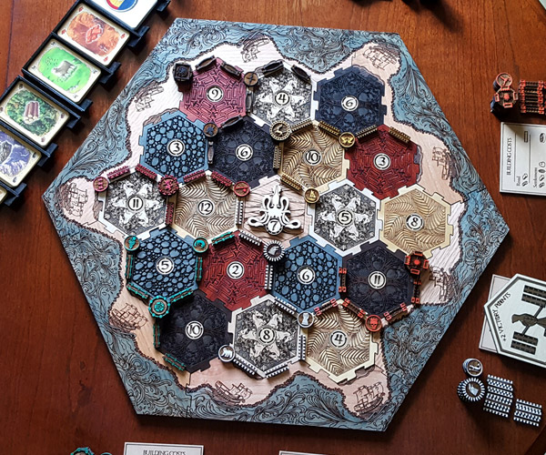 Custom Game of Thrones Catan Board