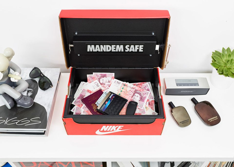 Mandem Safe Shoebox Safe