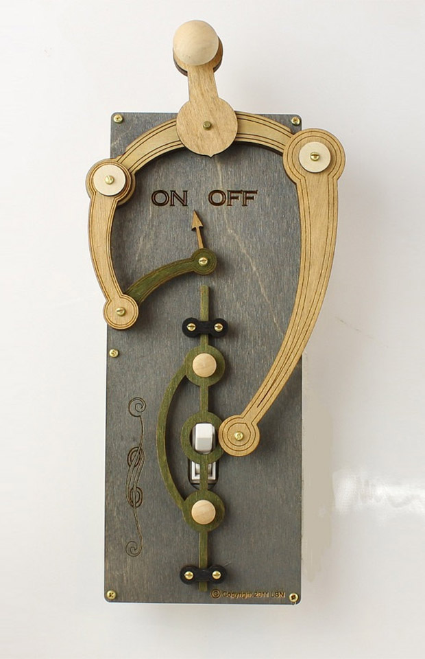 Overly-complex Light Switch Plates