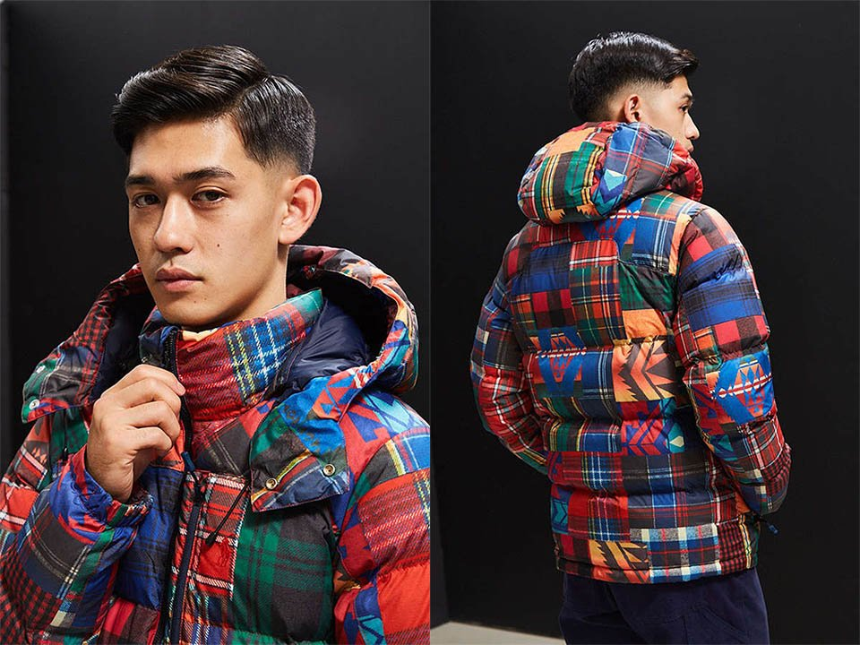 Polo Plaid Patchwork Puffer