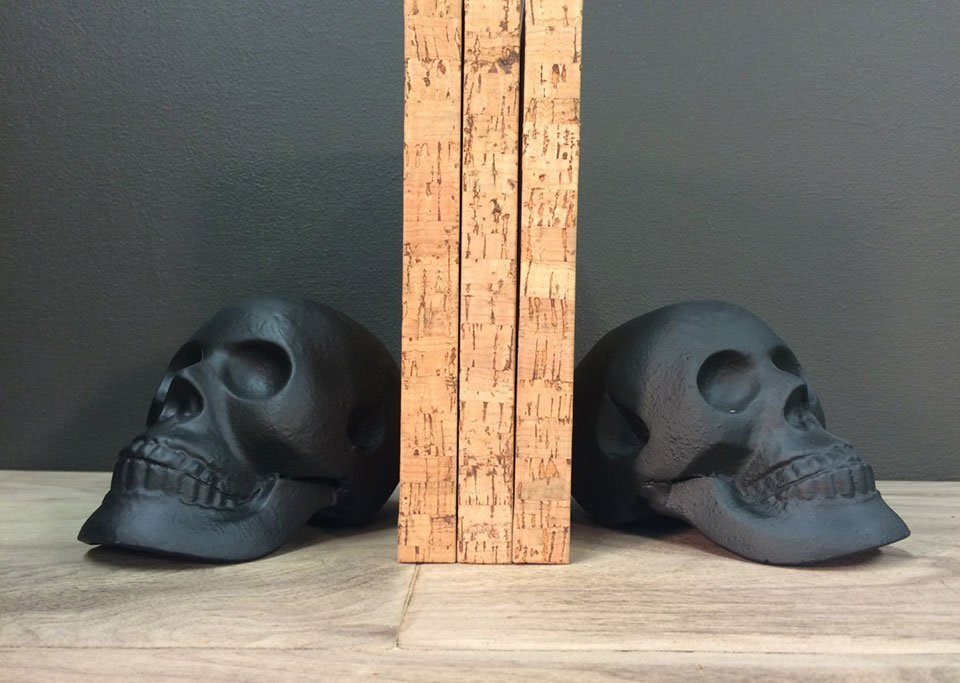 Iron Skull Bookends