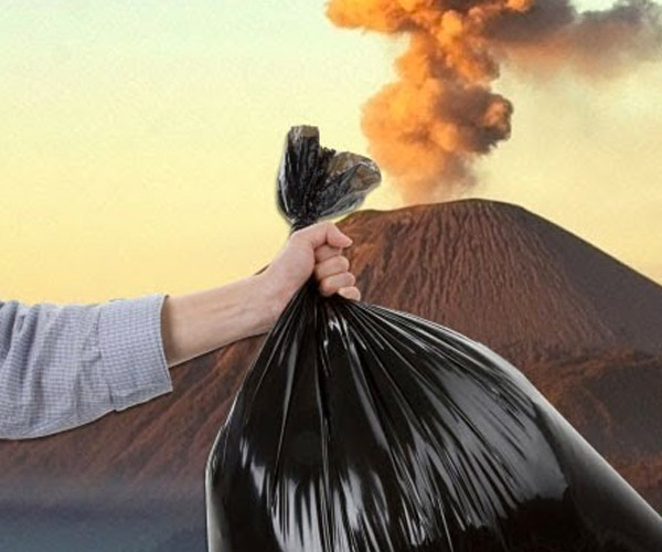 Why Not Throw Trash in Volcanoes?