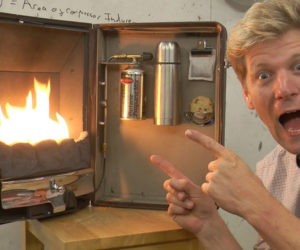 Colin Furze's Briefcase Fireplace