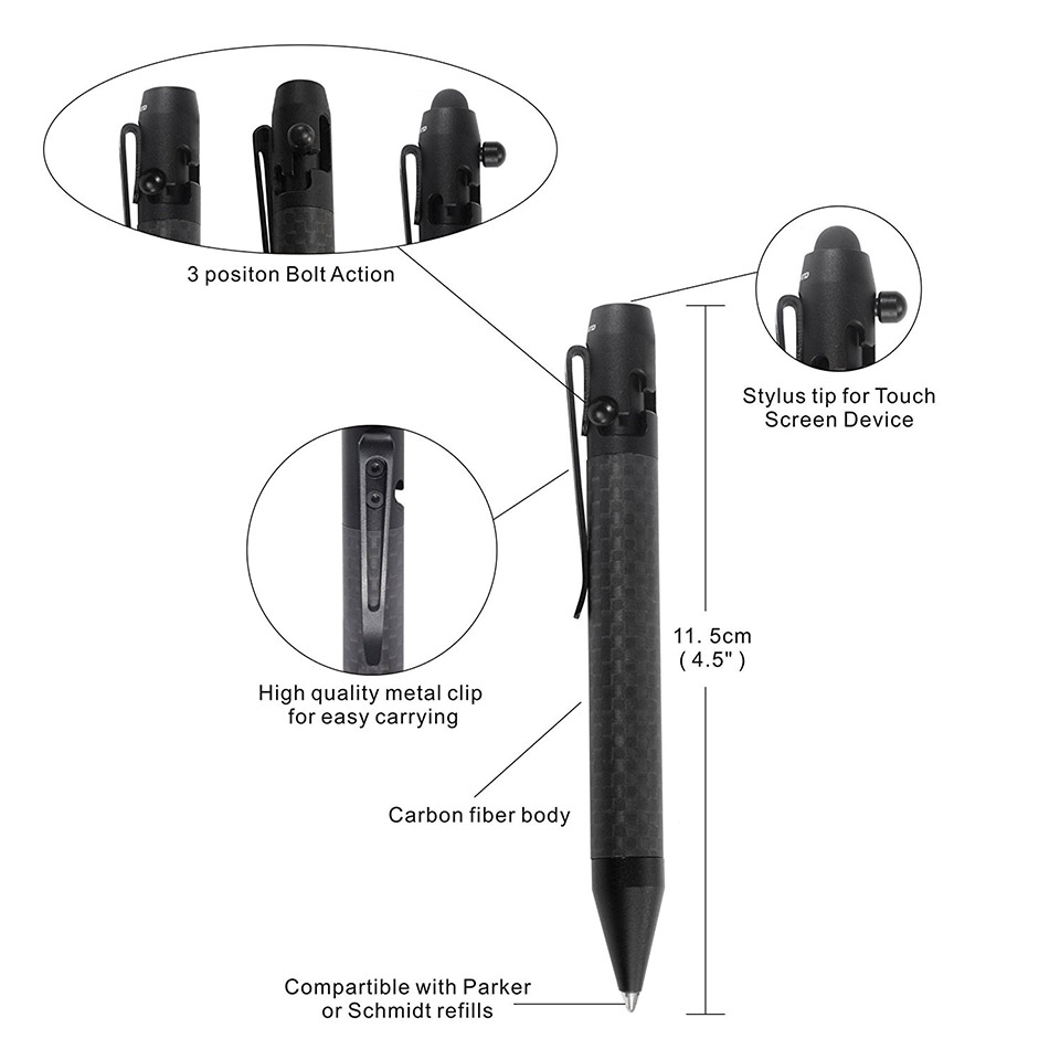 Carbon Fiber Bolt-action Pen