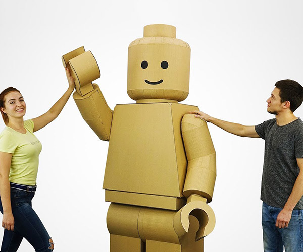 DIY Cardboard Minifig Costume