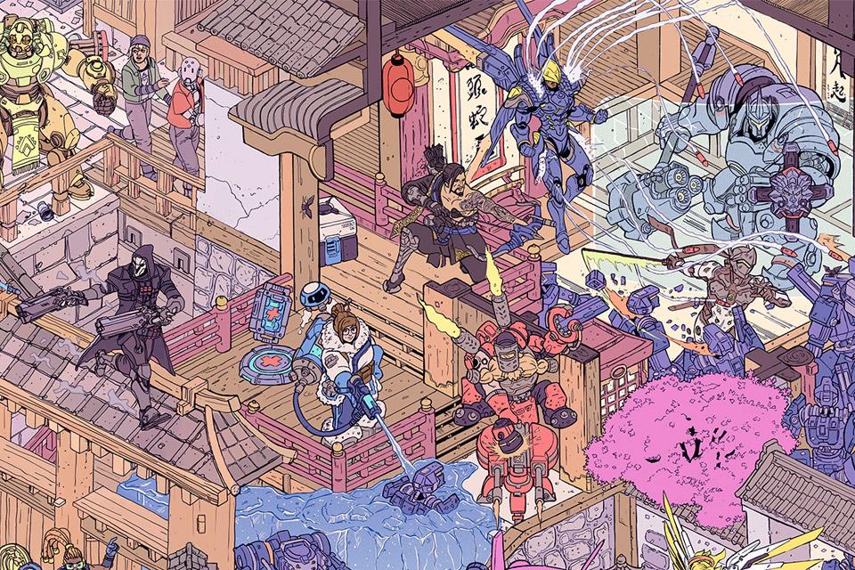 Hanamura Showdown Overwatch Poster