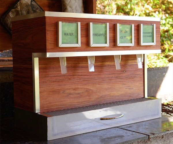 DIY Wood Drink Dispenser