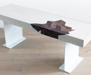 How to Make a Concrete & Walnut Table
