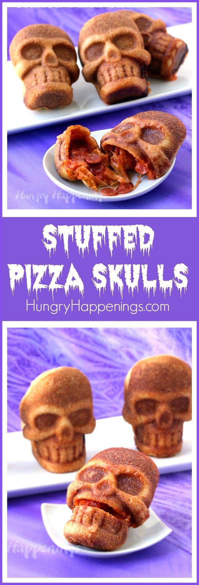 How to Make Stuffed Pizza Skulls