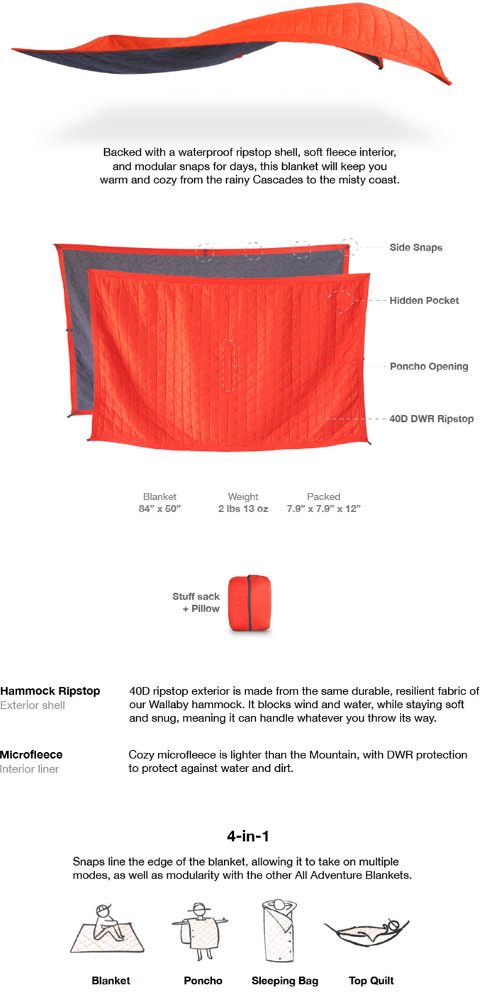 Kammok All Adventure Camp Blankets