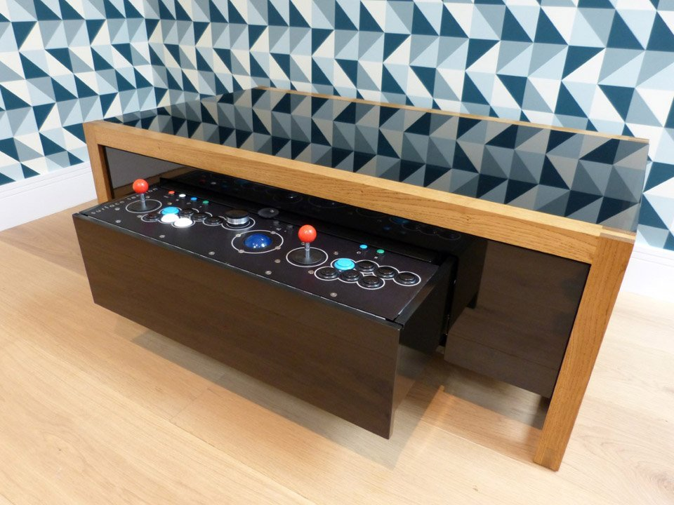 This Premium Wooden Coffee Table Is Also A Two Player