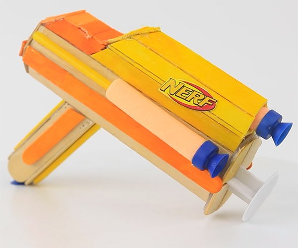 DIY Popsicle Stick NERF Blaster