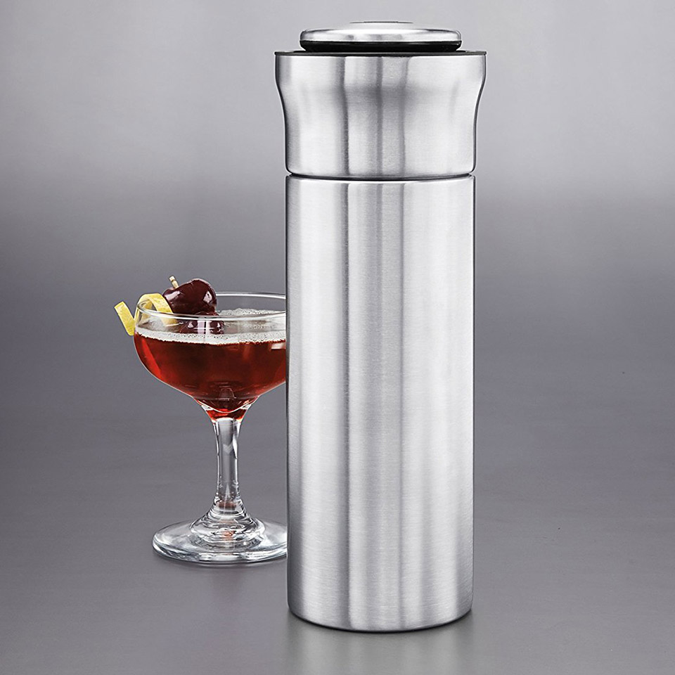 Press & Pour Cocktail Shaker