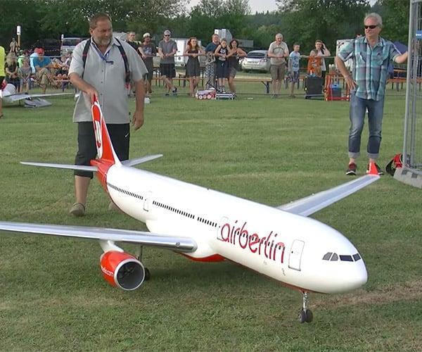 R/C Jet Crash
