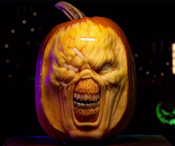 Resident Evil Nemesis Pumpkin Carving