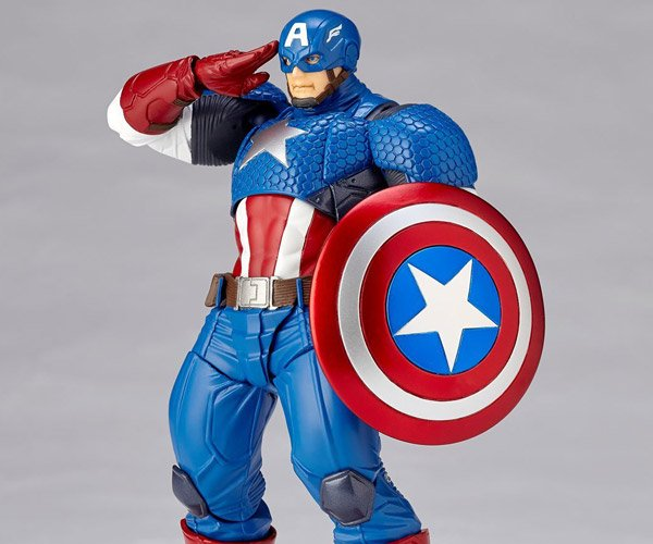 Revoltech Captain America Action Figure