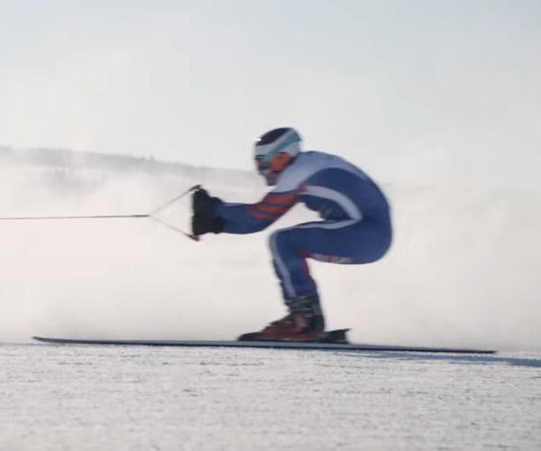 Skiing at 117 mph